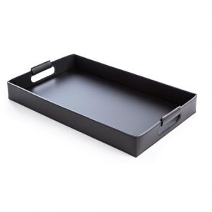 Tavola Leather Serving Trays in Black