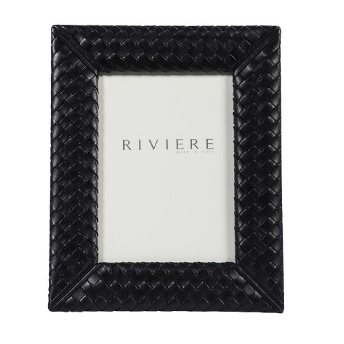 Riviere Quilted Leather Frames in Black