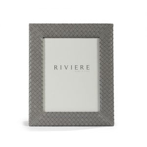 Riviere Leather Frames in Grey