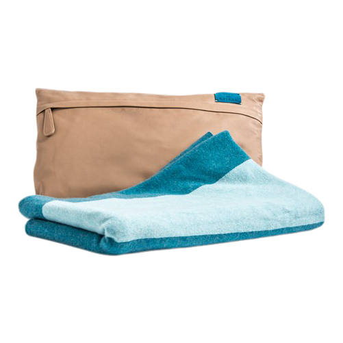 Travel Cashmere Throw Kit Blue/Beige
