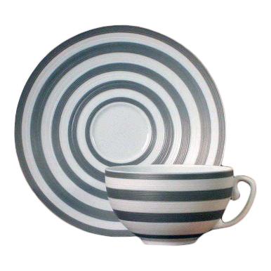 Hemisphere Striped Tea Saucer