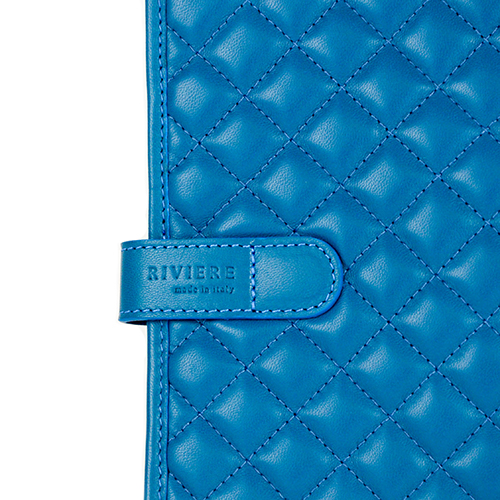 Quilted Leather iPad Case Blue