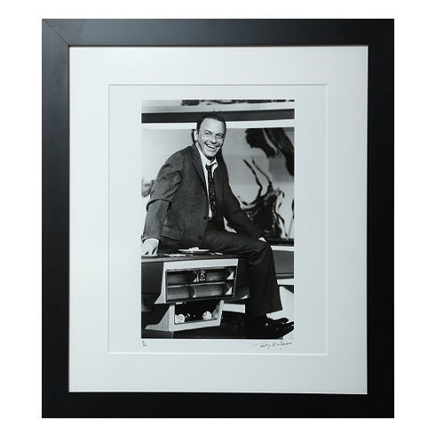 Frank Sinatra on Billiards Table