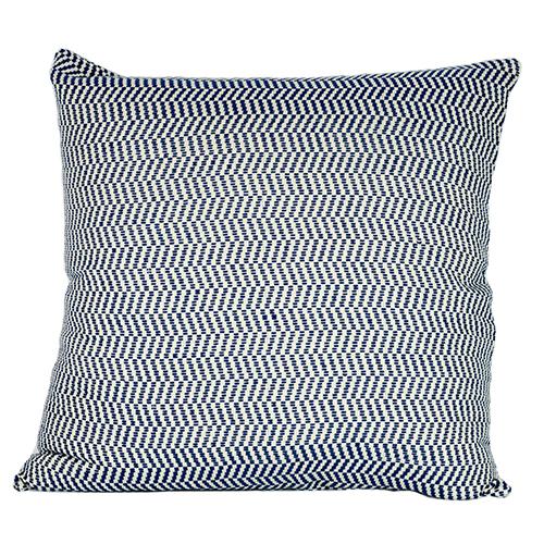 Herringbone Cushion Blue