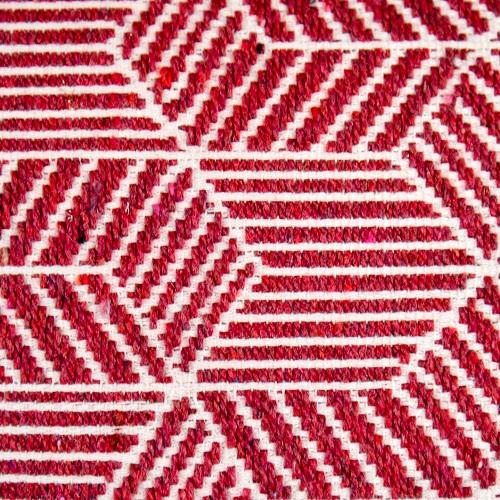 Geometric Ruby Cushion