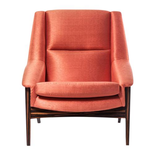 Silk Upholstered Armchair