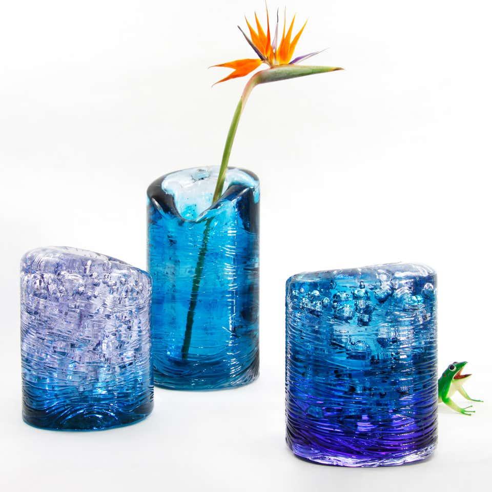 J. Jungle Tall Vase Blue
