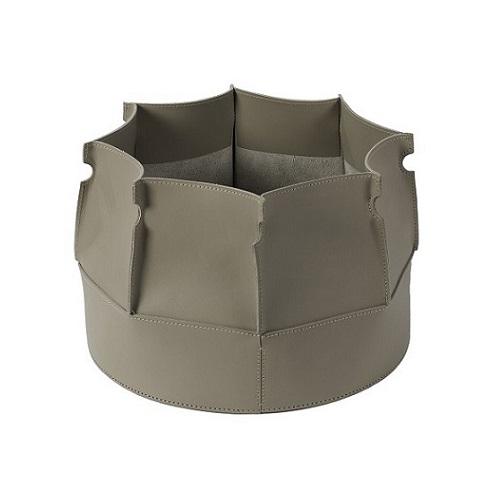 Muscari Leather Basket Mud
