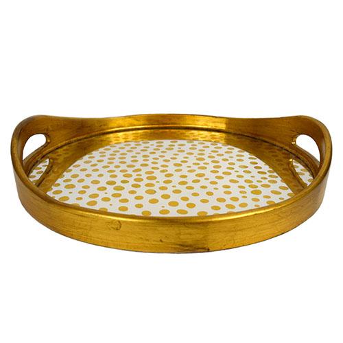 Circular Mirror Dots Tray