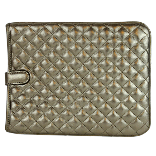 Quilted Leather iPad Case Moonlight