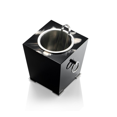 Black Lacquered Ice Bucket