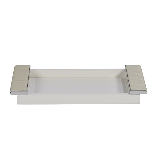 Ivory Lacquered Tray with Wrapped Handles