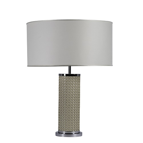 Ivory Cylindrical Lamp