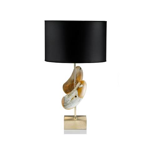 Brass and Horn Table Lamp