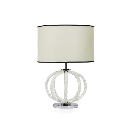 Single Bamboo Lamp Ivory