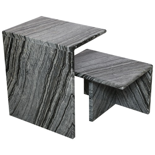 Marble Short Side Table