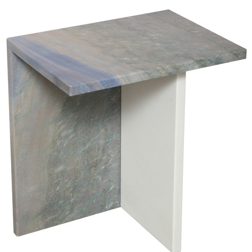 Marble Side Table High