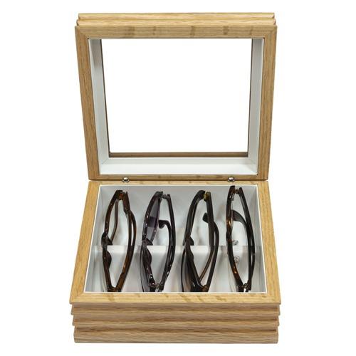Mini Wave Glasses Box Honey Oak