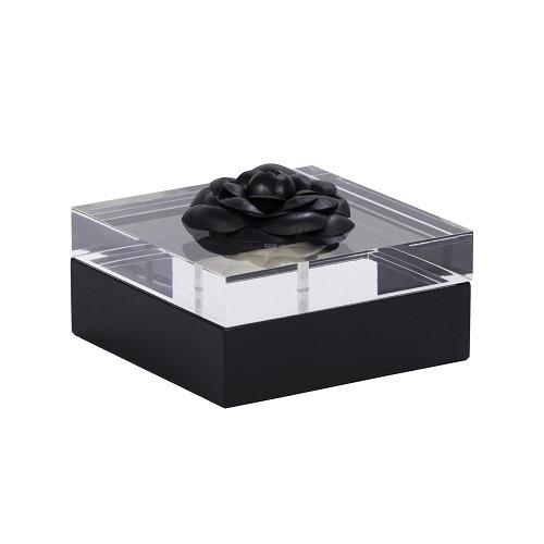 Black Leather Flower Box