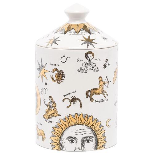 scented candle in ceramic vessel