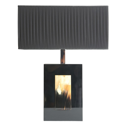 Horn and Lacquer Table Lamp