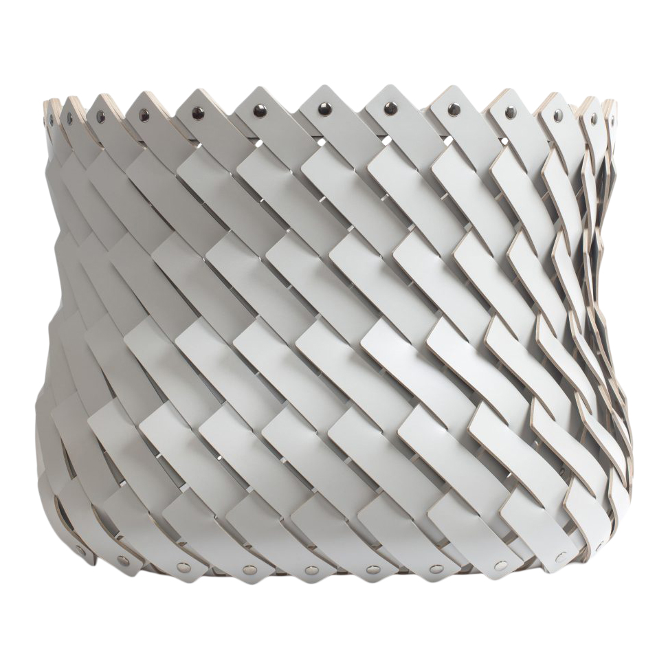 Almeria Square Basket Light Grey
