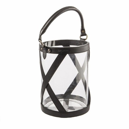 Large Black Kensington Glass Lantern