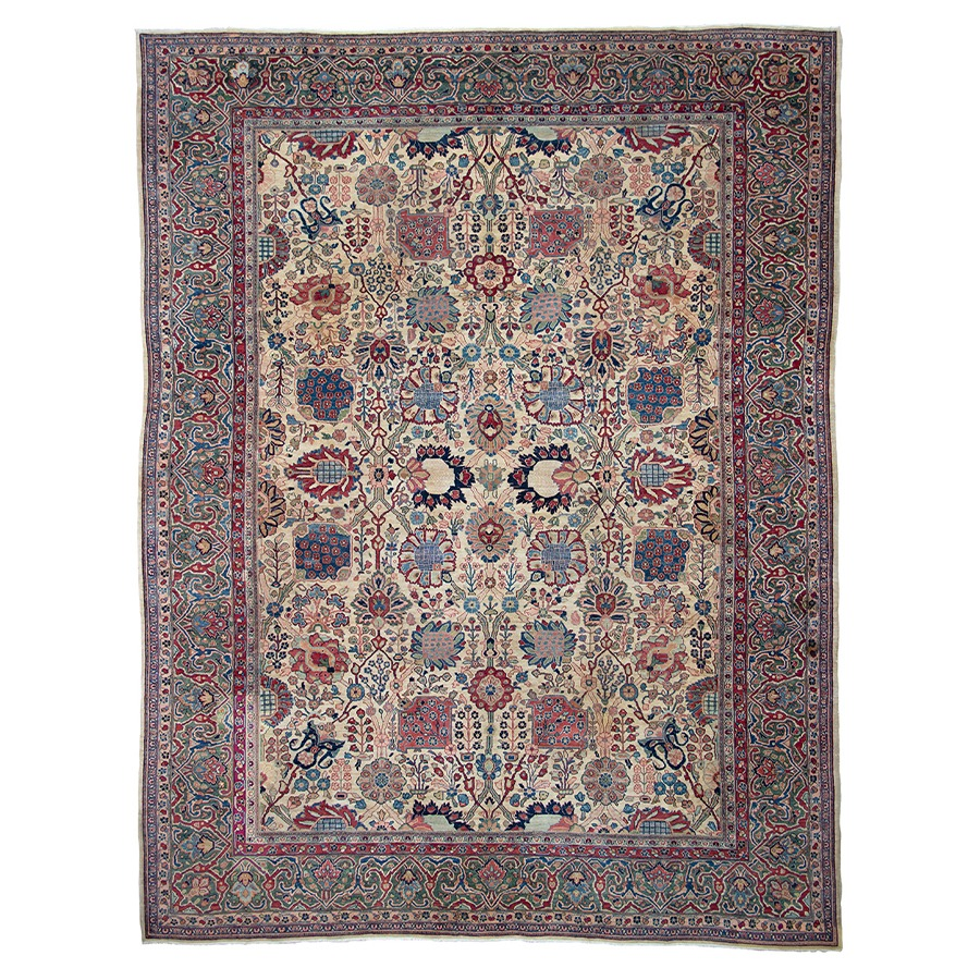 Bedroom Rugs_0003_19 Antique Tabriz Carpet