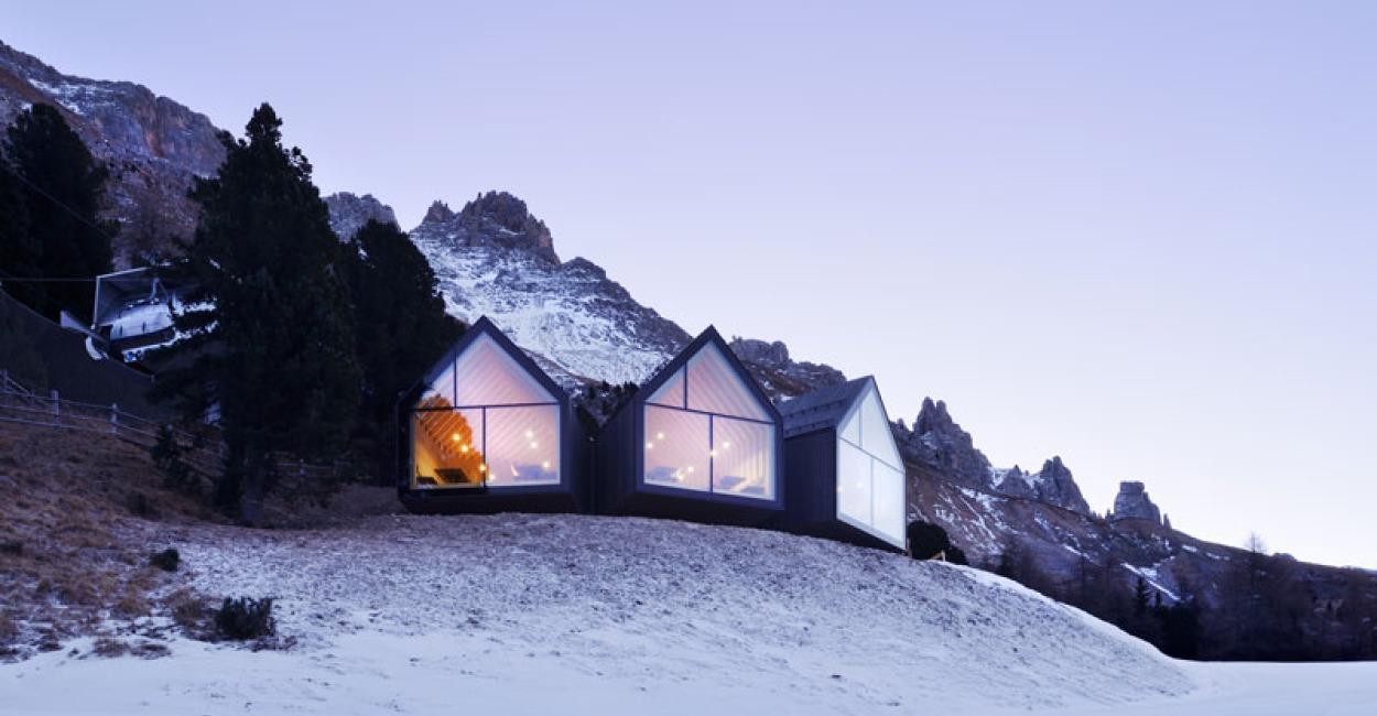 Brown Color Palette_3 Architecture_Mountain Huts in Obereggen, Italy
