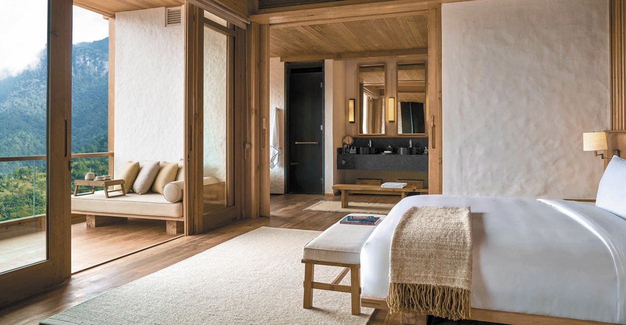 Brown Color Palette_6 Commercial Spaces_Six Senses Hotel Bhutan_1
