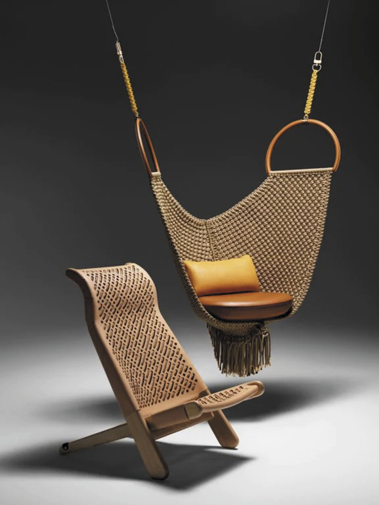 Indoor Swing_2 Hanging Chair_Louis Vuitton Swing Chair by Patricia Urquiola