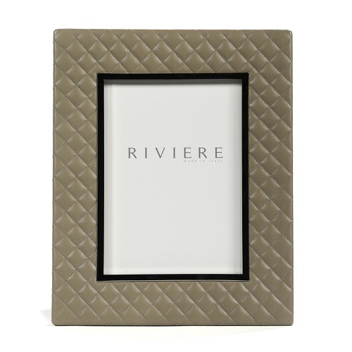 Taupe Quilted Leather Frame