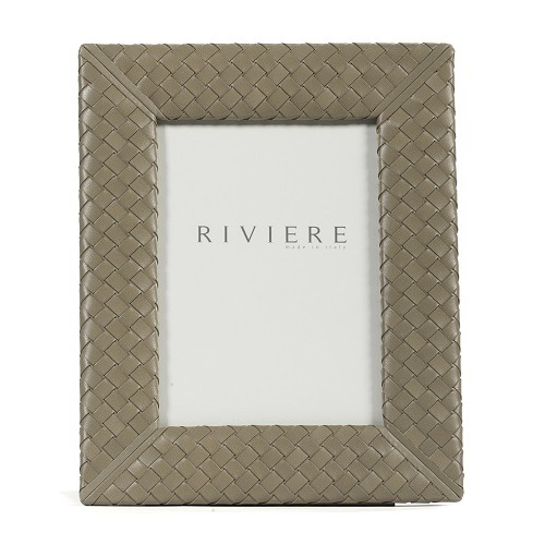 Taupe Woven Leather Frame