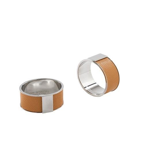 Lux Napkin Rings Orange