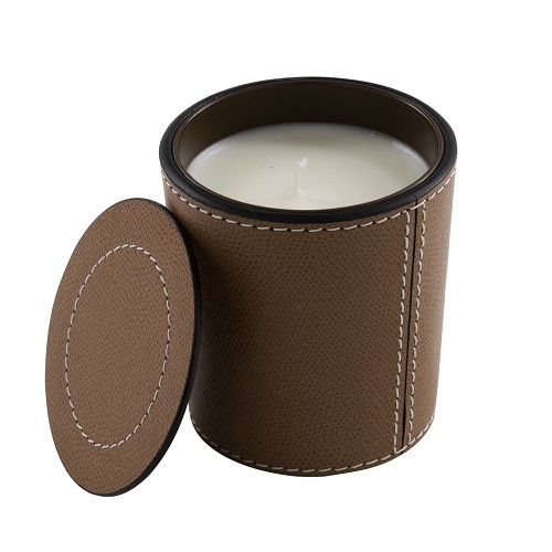 Sienna Leather Candle Holder