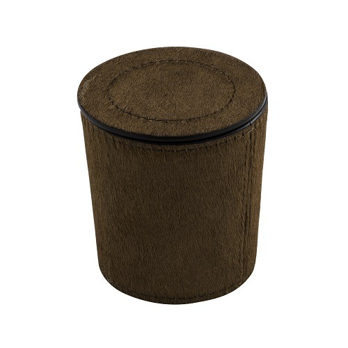 Brown Leather Candle Holders