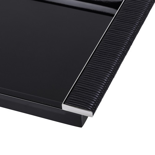 Black Lacquered Tray with Wrapped Handles