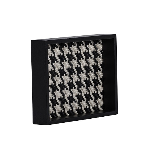 Houndstooth Leather Tray