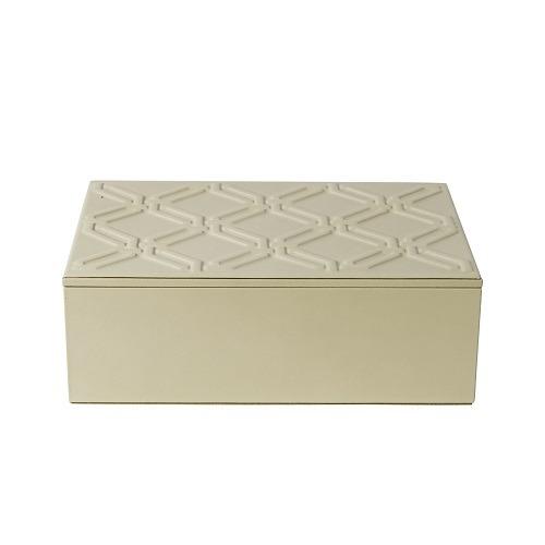 Ivory Leather Jewelry Box
