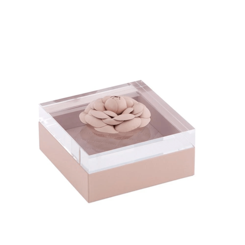 Pink Leather Flower Box