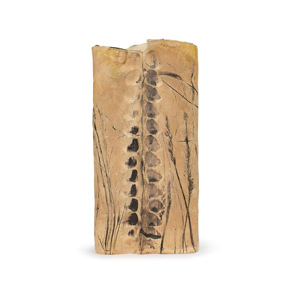 Vintage fossilized textured vase