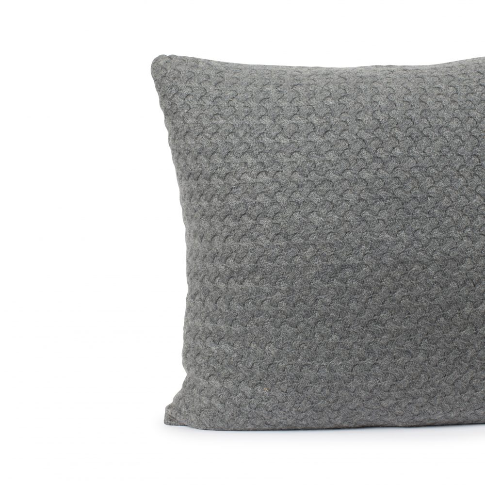 Cashmere Pillow Slate Gray