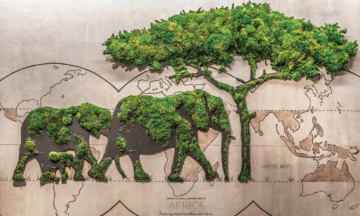 Moss Wall_Plant the future_STARBUCKS MARYLAND