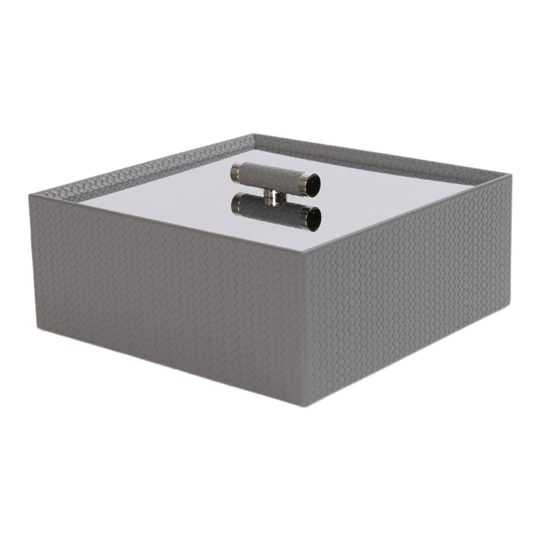 ISIDE SQUARE BOX WITH CHROMED BRASS LID FIRENZE