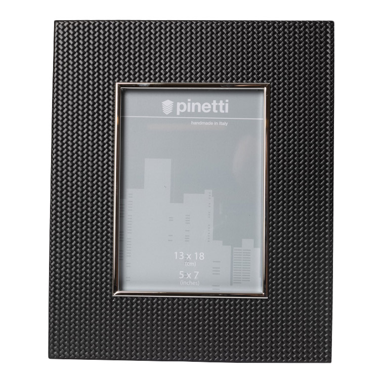 PHOTO FRAME SILVER PLATED INSERT AND SUEDE BACK FIRENZE