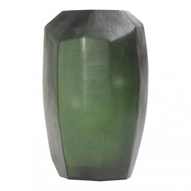 Emerald Cubistic Tall Vase